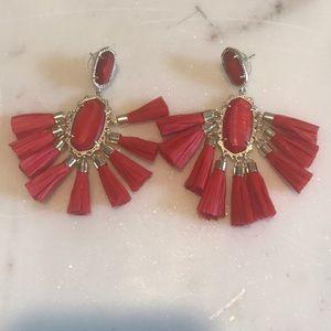 Kendra Scott red and gold Kristen earrings